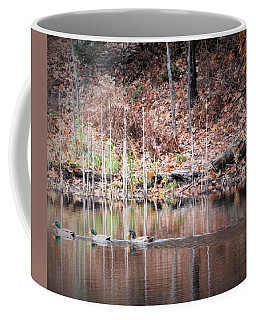 Ducks In A Row Coffee Mug