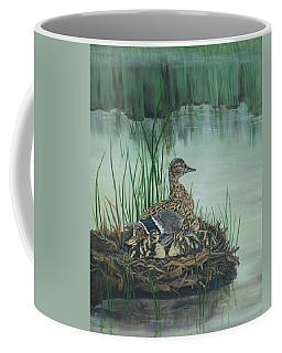 Ducks In Lifting Fog Coffee Mug