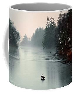 Ducks On A Frozen Pond Coffee Mug