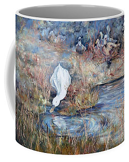Ducks. Split Opposite Colour Harmony.  Coffee Mug