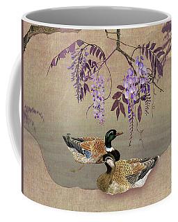 Ducks Under Wisteria Tree Coffee Mug