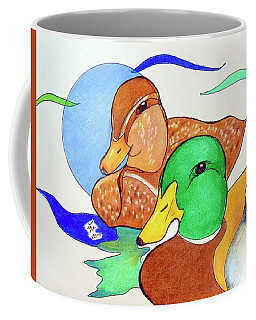Ducks2017 Coffee Mug by Loretta Nash