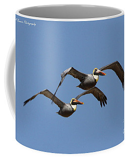 Duel Pelicans In Flight Coffee Mug