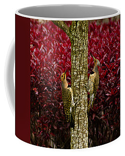 Dueling Woodpeckers Coffee Mug