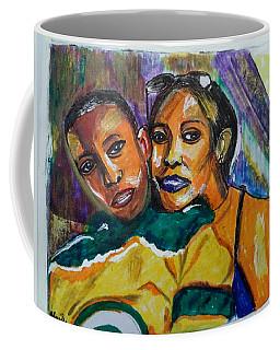 Coffee Mug featuring the painting Duke And Messie - Family Portrait 01 - Sierra Leone by Mudiama Kammoh