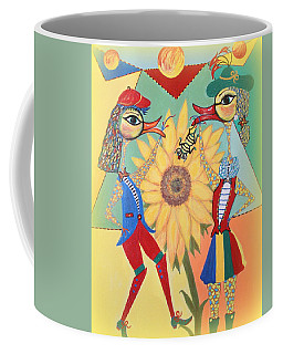 Coffee Mug featuring the painting Duke Have A Honey-bee by Marie Schwarzer