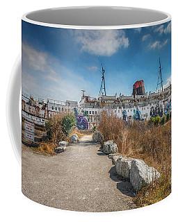 Coffee Mug featuring the photograph Duke Of Lancaster Graffiti by Adrian Evans