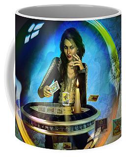 Coffee Mug featuring the digital art Dukkerin' ... Fortune Teller by Shadowlea Is