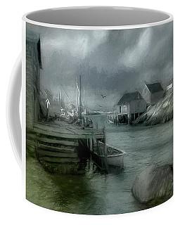 Dull Fall Day In Peggys Cove Coffee Mug