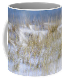 Dune Grasses Snowscape Coffee Mug by Marty Saccone
