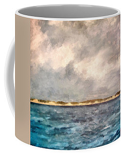 Dunes Of Lake Michigan With Rough Seas Coffee Mug