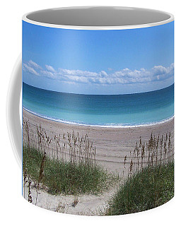 Coffee Mug featuring the photograph Dunes On The Outerbanks by Sandi OReilly