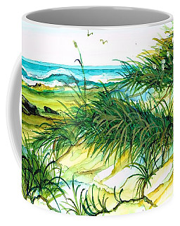 Coffee Mug featuring the painting Dunes by Val Stokes