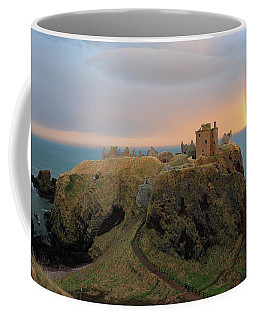 Coffee Mug featuring the photograph Dunnottar Castle Sunset Rainbow by Grant Glendinning