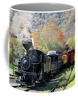 Durbin Rocket With Fall Leaves Coffee Mug