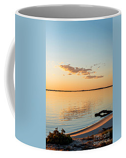 Coffee Mug featuring the photograph Dusk At Lake Bonney by Ray Warren