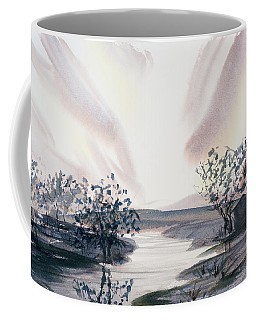 Dusk Creeping Up The River Coffee Mug