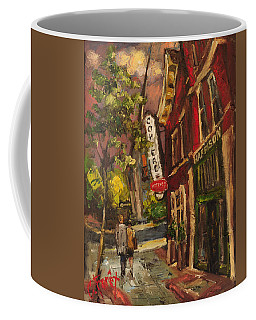 Dusk In Downtown Coffee Mug by Carole Foret