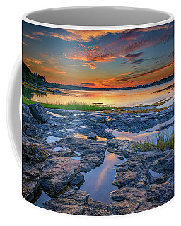 Coffee Mug featuring the photograph Dusk On Littlejohn Island by Rick Berk