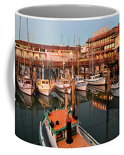 Dusk On The Marina Coffee Mug by James Kirkikis