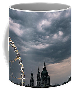 Coffee Mug featuring the photograph Dusk Over Budapest by Alex Lapidus