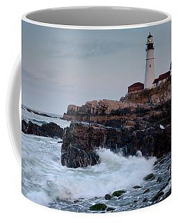 Dusk, Portland Head Light #7989-7991 Coffee Mug