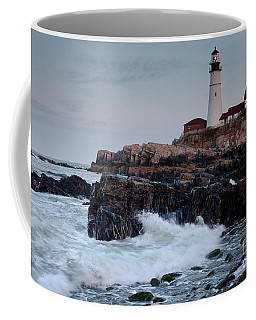 Dusk, Portland Head Light #7989-7991 Coffee Mug