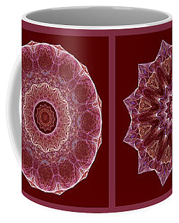 Dusty Rose Mandala Fractal Panel Coffee Mug