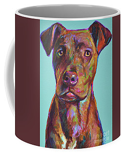 Coffee Mug featuring the painting Dutch, The Brindle Mix by Robert Phelps