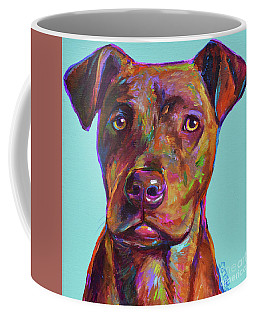 Coffee Mug featuring the painting Dutch, The Pit Bull Pup by Robert Phelps