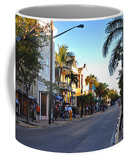 Duval Street In Key West Coffee Mug
