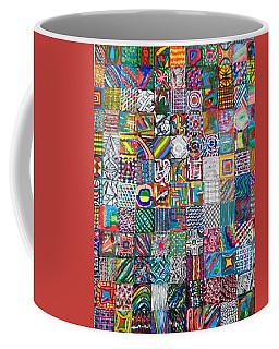 Coffee Mug featuring the painting Duvet And Throw Cushion - 02 by Mudiama Kammoh