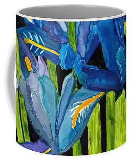 Dwarf Iris Watercolor On Yupo Coffee Mug
