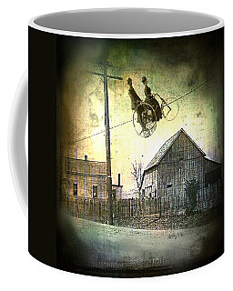 Coffee Mug featuring the digital art Dynamite Barn by Delight Worthyn
