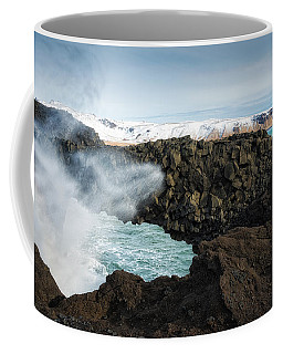 Coffee Mug featuring the photograph Dyrholaey Rock Arch Iceland by Matthias Hauser