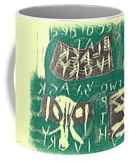 E Cd Grey And Green Coffee Mug