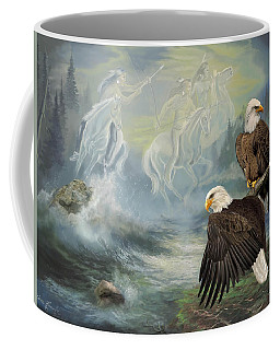 Eagels And Native American  Spirit Riders Coffee Mug