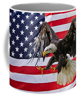 Eagle And Flag Coffee Mug