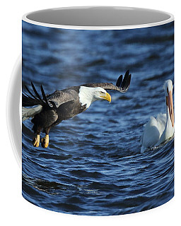 Eagle And Pelican Coffee Mug