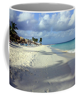 Coffee Mug featuring the photograph Eagle Beach Aruba by Suzanne Stout