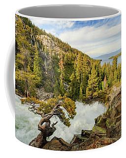 Eagle Bonsai's Inspirational Flow Into Lake Tahoe Coffee Mug