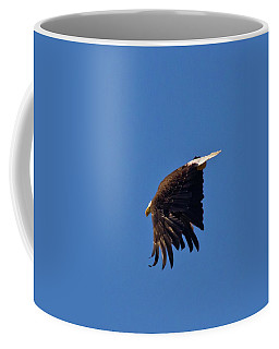 Coffee Mug featuring the photograph Eagle Dive by Linda Unger