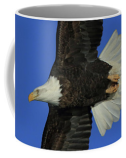 Eagle Flying Closeup Coffee Mug