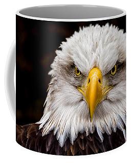 Defiant And Resolute - Bald Eagle Coffee Mug by Rikk Flohr
