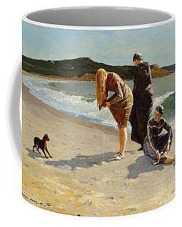 Coffee Mug featuring the painting Eagle Head, Manchester, Massachusetts - 1870 by Winslow Homer