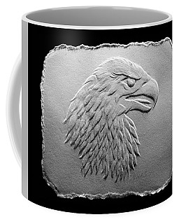 Eagle Head Relief Drawing Coffee Mug by Suhas Tavkar