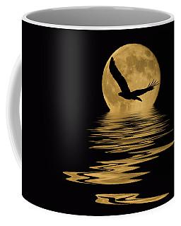 Eagle In The Moonlight Coffee Mug