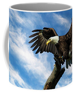 Eagle Landing On A Branch Coffee Mug