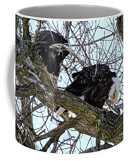 Coffee Mug featuring the photograph Eagle Lunch by Ray Congrove