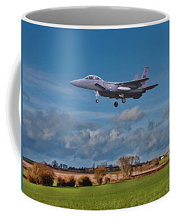 Coffee Mug featuring the photograph Eagle On Finals by Paul Gulliver